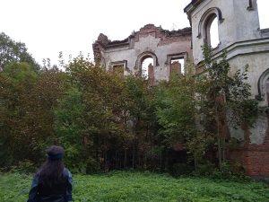 Гостилицы, руины дворца