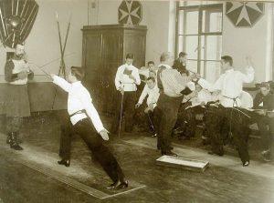 уроки фехтования, 19 век